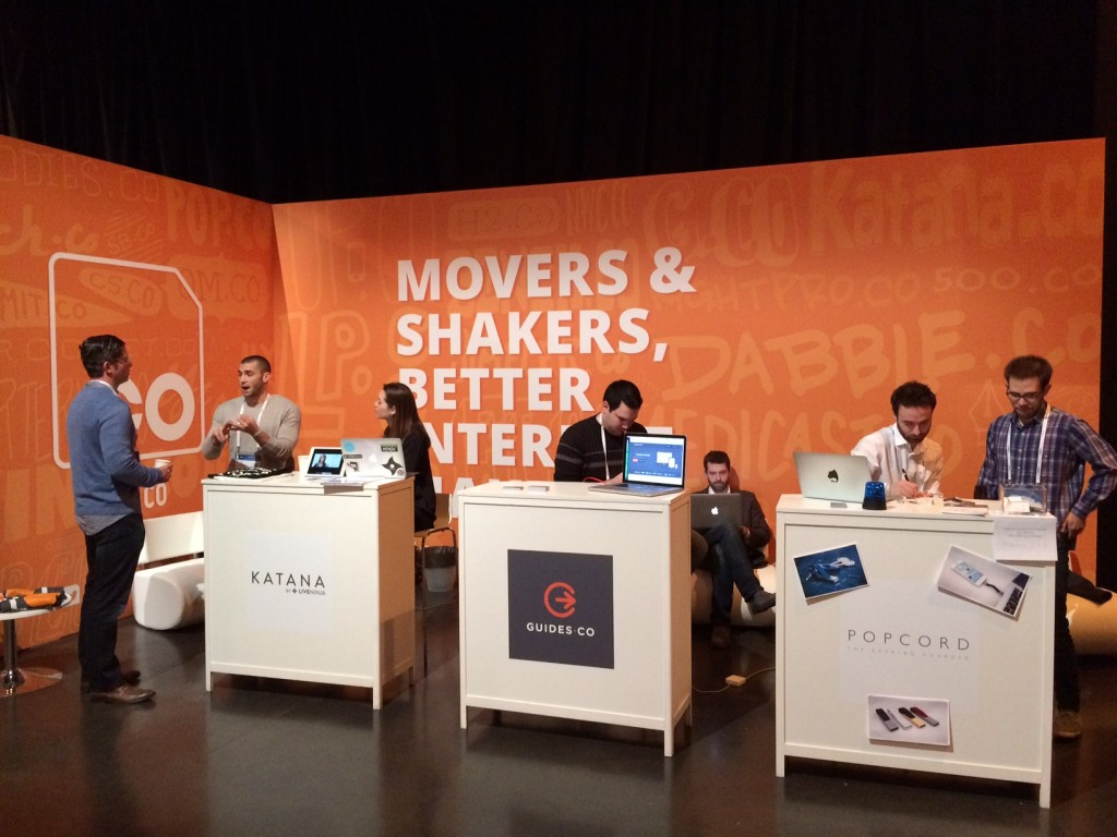 The .CO booth for movers & shakers, better Internet Makers