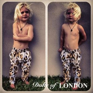 duke of london cheetah pants