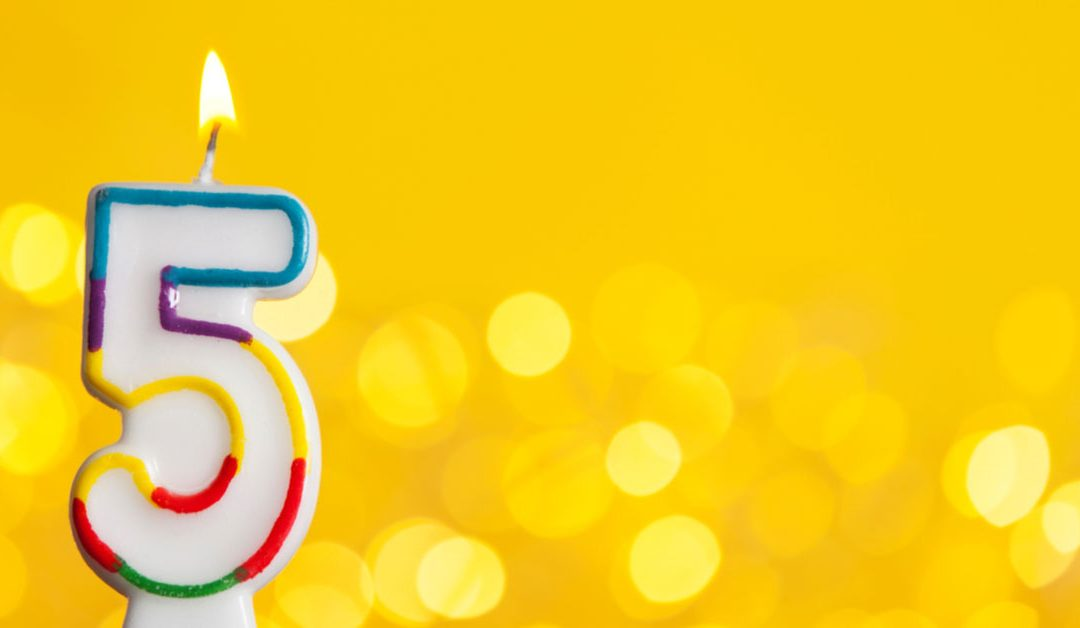 We're Turning 5 — Let's Celebrate!